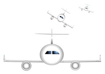 avions à l'atterrissage
