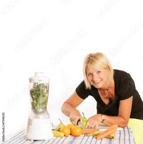 canvas print picture Gesunde Ernährung mit Obst