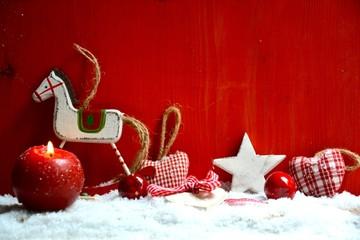 Weihnachtsdeko rot - weiß