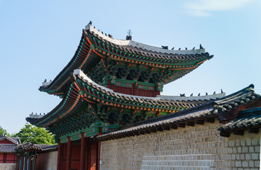 The main gate of Changgyeonggung palace, South Korea