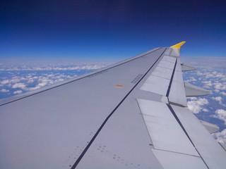 Veduta dall'aereo in volo
