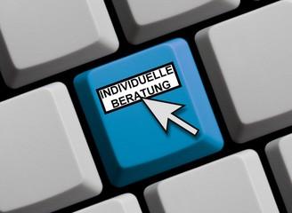 Tastatur blau: Individuelle Beratung