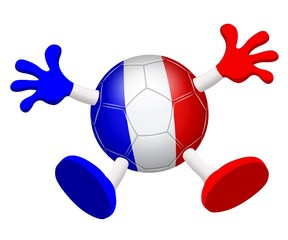 Football. Ballon supporter de l'équipe de France