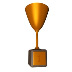 Golden cup for winner