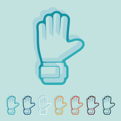 Flat design: gloves