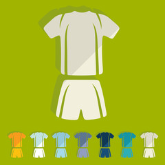 Flat design: Football clothing