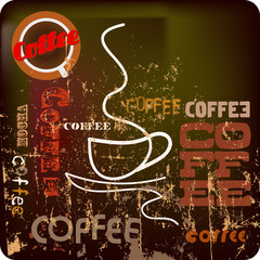 retro coffee template free space for your text