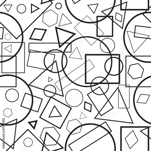 seamless pattern black-and-white geometrical figures - 67048922