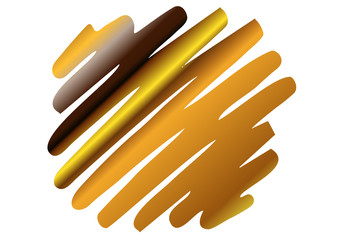 goldener Zigzag-Streifen