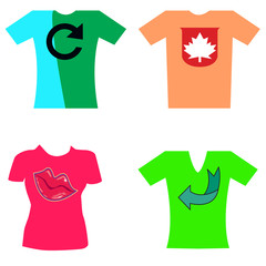 T-shirts of different colors