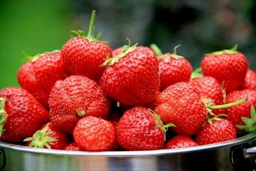 Erdbeeren im Sieb