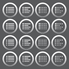 Vector of transparent icon, check list button set