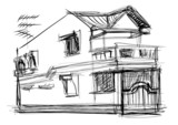 sketch vector of house - 67050501