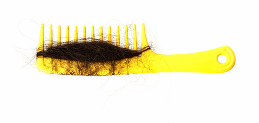 Hair loss problem and yellow comb