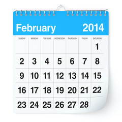 February 2014 - Calendar