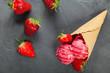 Strawberry Ice Cream - 67051769