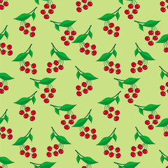 Seamless pattern with ripe berries