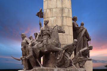 Monument to the heroes of the liberation war of 1648-1654 in Ukr