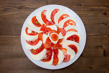 Tomato and mozzarella top