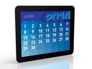 June 2014 - Tablet Calendar