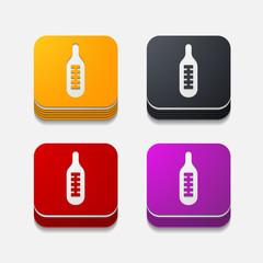 square button: thermometer