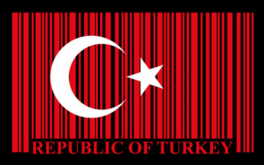 Turkish barcode flag, vector