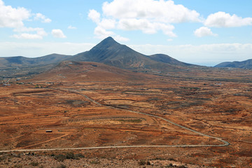 Straße durch Fuerteventura