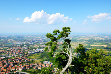 The view from Titano mountain, San Marino