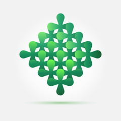 Bright vector green creative technology icon - abstract symbol