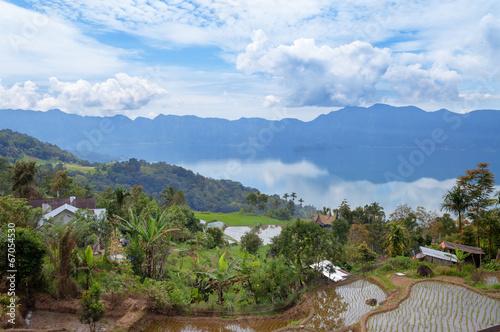 Foto op Plexiglas Indonesië Lake Maninjau (Danau Maninjau)