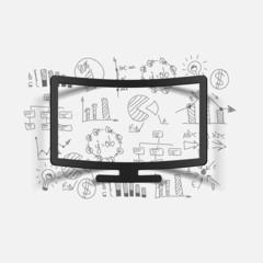 Drawing business formulas: monitor