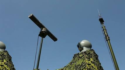electronic warfare Military radar rotates