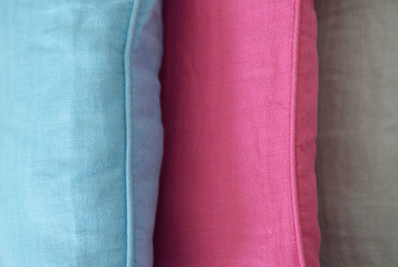 three different pillows detail