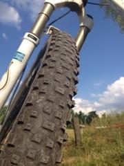 Reifenprofil am Moutainbike