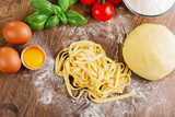 sliced ​​homemade noodles - 67056722