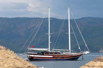 Turkish yacht in the sea