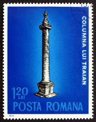 Postage stamp Romania 1975 Trajans Column, Rome