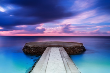 Beautiful pier in sunset