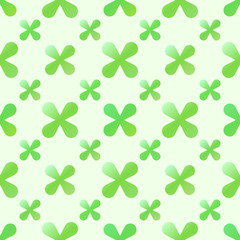 Vector green creative seamless pattern