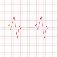 Vector heart beats cardiogram illustration