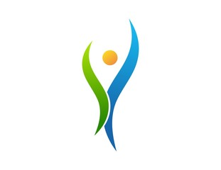 logo, people, health, nature, plants, abstract life symbol icon