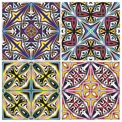 Ceramic Tile Pattern in Mediterranian Style