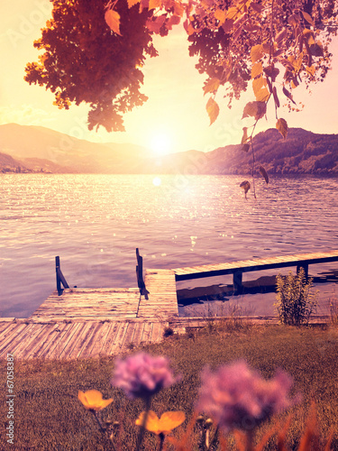 canvas print picture silent lake 04
