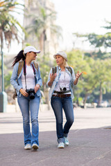 tourists walking in the city