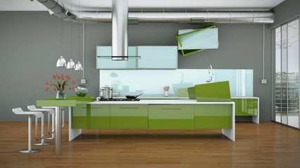 animated Kitchen Interior Design