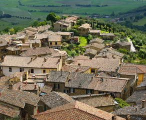 The ancient town of Montalcino, Tuscany, Italy