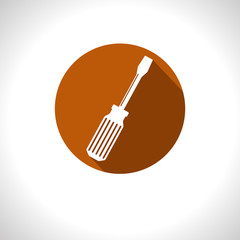 Vector screwdriver icon. Eps10