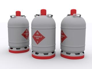 Drei Gasflaschen