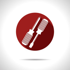 Vector two screwdrivers icon. Eps10