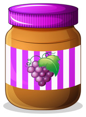 A jar of grape jam